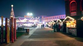 Украшения праздника в городской площади видеоматериал