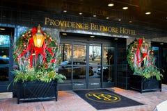 Украшения праздника на гостинице Biltmore, Провиденсе, RI Стоковое фото RF