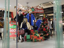 Украшения продаж рождества Китая в магазине стоковая фотография rf
