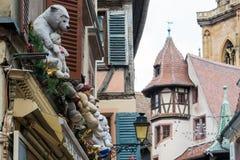Украшения рождества внешние, Кольмар, Франция Стоковая Фотография RF