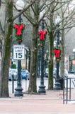 Украшения рождества в Fayetteville стоковое изображение