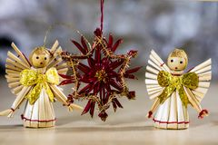 Украшения рождества для рождества Орнаменты рождества сделанные  Стоковая Фотография