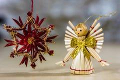 Украшения рождества для рождества Орнаменты рождества сделанные  Стоковая Фотография RF
