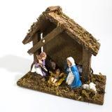 Украшения рождества, дома сцены рождества в белизне стоковые фотографии rf