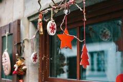 Украшения рождества домов в Германии Праздновать Новый Год и рождество рождество веселое Стоковое фото RF
