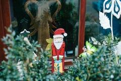 Украшения рождества домов в Германии Праздновать Новый Год и рождество рождество веселое Стоковые Фото