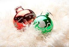 украшения рождества зеленеют красный вал Стоковые Изображения RF