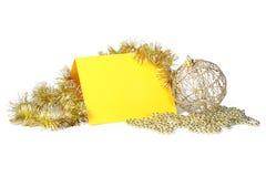 украшения рождества карточки Стоковое Изображение