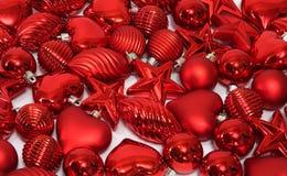 украшения рождества красные Стоковое Изображение RF