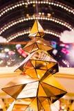 Украшения рождества на ветвях ели Стоковая Фотография RF