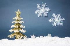 Украшения рождества против предпосылки зимы Стоковое фото RF