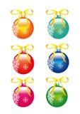 Украшения рождества, шарик рождественской елки иллюстрация штока