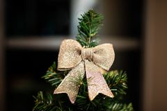 Украшения рождества na górze дерева Стоковые Фото