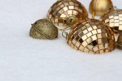украшения Рождеств-вала на снежке Стоковое Изображение RF