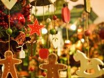 Украшения рождества в окне Стоковое фото RF