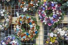 Украшения рождества в рождественской ярмарке Будапешта Стоковое фото RF