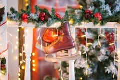 Украшения рождества в форме коньков Стоковые Фото
