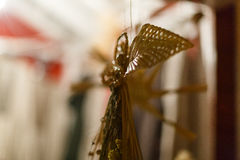 Украшения рождества и веревочка ретро Украина Стоковые Фотографии RF