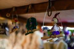 Украшения рождества и веревочка ретро Украина Стоковое фото RF