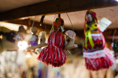 Украшения рождества и веревочка ретро Украина Стоковая Фотография