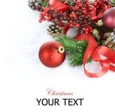 украшения рождества над белизной Стоковое фото RF