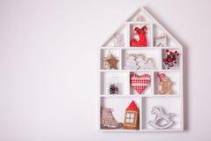 Украшения рождества на стене Стоковые Фото