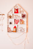 Украшения рождества на стене Стоковая Фотография RF