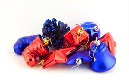 украшения рождества предпосылки изолировали белизну Стоковое Изображение RF
