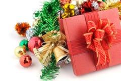 украшения рождества предпосылки белые Стоковое Фото
