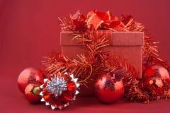 украшения рождества предпосылки красные Стоковая Фотография RF