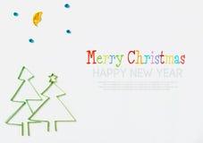 Украшения рождества сделанные бумажный quilling Стоковое Фото