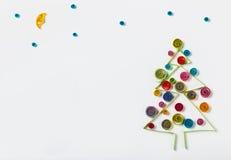 Украшения рождества сделанные бумажный quilling Стоковые Изображения RF
