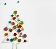 Украшения рождества сделали ‹â€ ‹â€ бумажный quilling Стоковые Изображения RF