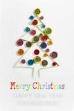 Украшения рождества сделали ‹â€ ‹â€ бумажный quilling Стоковое Изображение