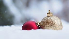 Украшения рождества с условиями зимнего времени видеоматериал
