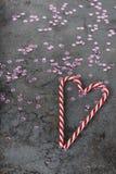Украшения рождества - тросточки конфеты и sequins Стоковая Фотография RF