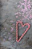 Украшения рождества - sequins и тросточки конфеты Стоковые Фотографии RF
