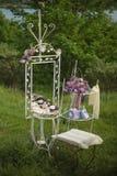 Украшения свадьбы с зеркалом Стоковая Фотография RF