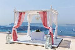 Украшения свадьбы с цветком Стоковые Изображения RF
