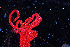 Украшения света рождества любят мечтая мир Стоковое фото RF