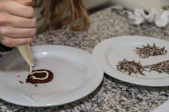 Украшения сладкого шоколада формируют - конец-вверх стоковые изображения rf