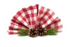 Украшения таблицы для рождества Стоковые Изображения RF