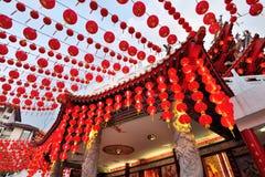 Украшения фонариков во время китайского Нового Года Стоковое Изображение