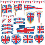 Украшения флага Великобритании иллюстрация вектора