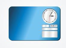 Украшения часов - синь Стоковые Изображения RF