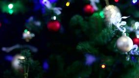 украшения экземпляра рождества фокусируют вал космоса большого орнамента золота красный акции видеоматериалы