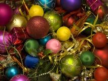 украшения яркого рождества цветастые Стоковое Изображение