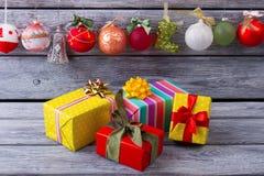 Украшения для домашнего интерьера рождества Стоковые Фото
