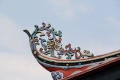 Украшенная крыша виска Cheng Hoon Teng в Малакке Стоковые Фотографии RF