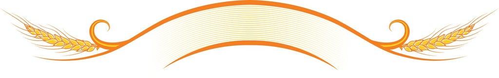 Украшенная лента с зрелыми ушами пшеницы Стоковое Изображение RF